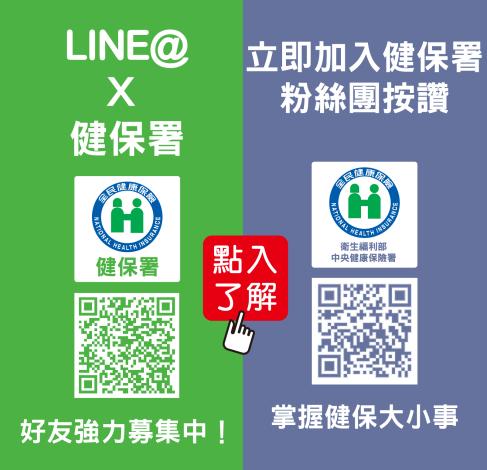 健保署FB及line