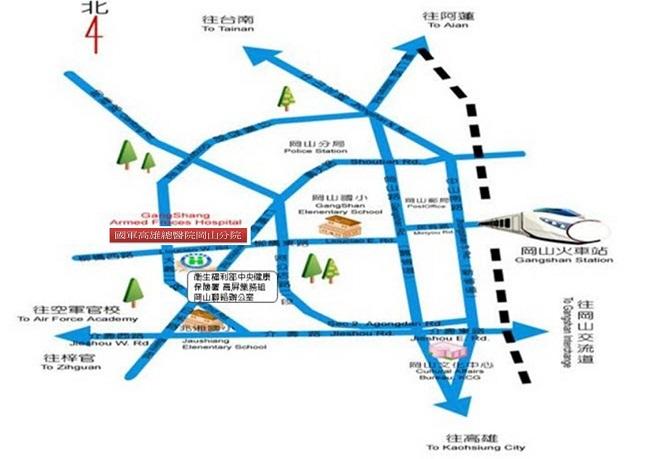 辦公室地點-高屏業務組,岡山聯絡辦公室地圖