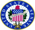 美國參議院聽證會的圖示