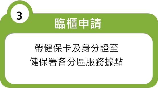 臨櫃申請操作步驟說明