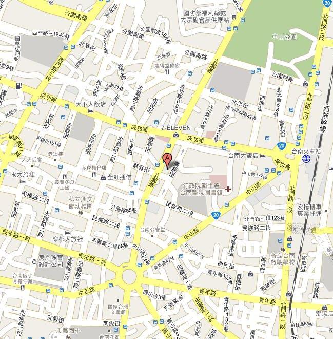 南區業務組交通位置圖