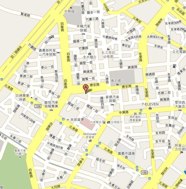 南區業務組嘉義聯絡辦公室交通位置圖