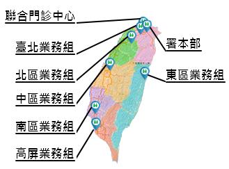 各分區地圖