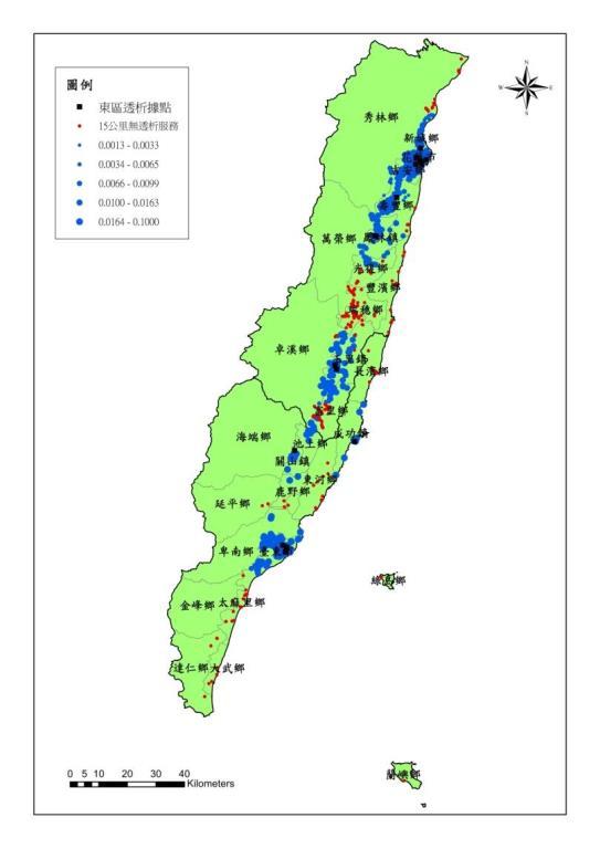 東區洗腎供需視覺化地圖